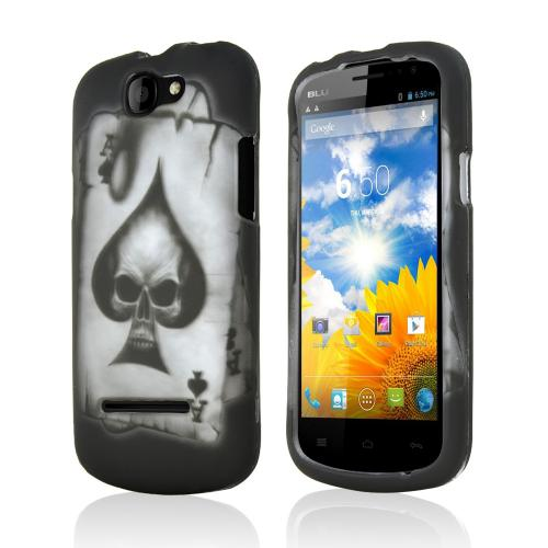 Ace Spade Skull on Black Rubberized Hard Case for Blu Dash 4.5