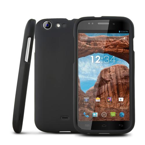 Black Rubberized Hard Plastic Case for Blu Life One