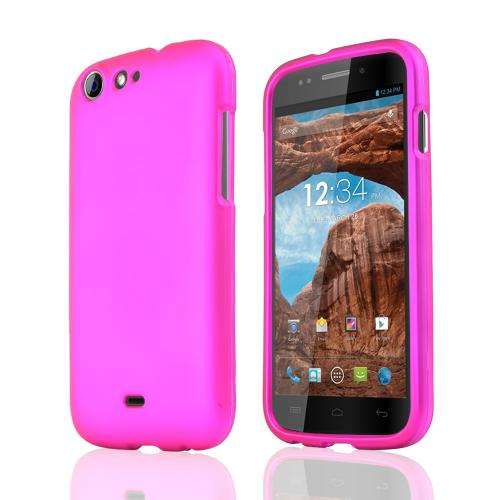Rose Pink Rubberized Hard Plastic Case for Blu Life One