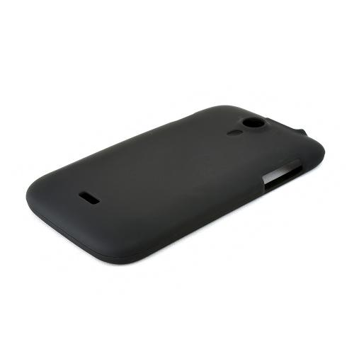 Black Rubberized Hard Plastic Case for Blu Studio 5.0