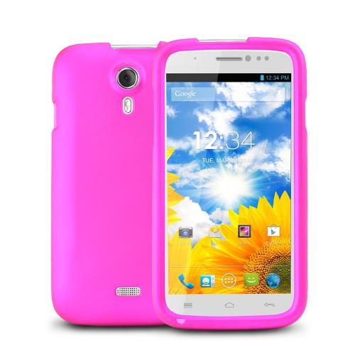 Rose Pink Rubberized Hard Plastic Case for Blu Studio 5.0