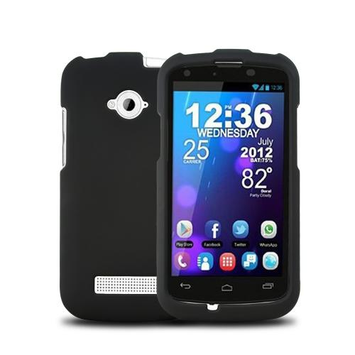 Black Rubberized Hard Plastic Case for Blu Tank 4.5