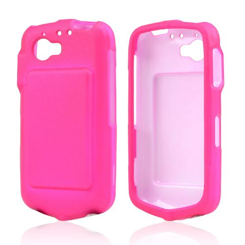 Hot Pink Rubberized Hard Case for Casio G'zOne Commando 4G LTE C811