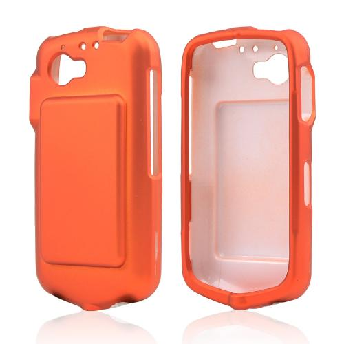 Orange Rubberized Hard Case for Casio G'zOne Commando 4G LTE C811