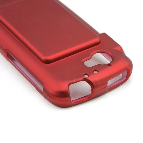Red Rubberized Hard Case for Casio G'zOne Commando 4G LTE C811