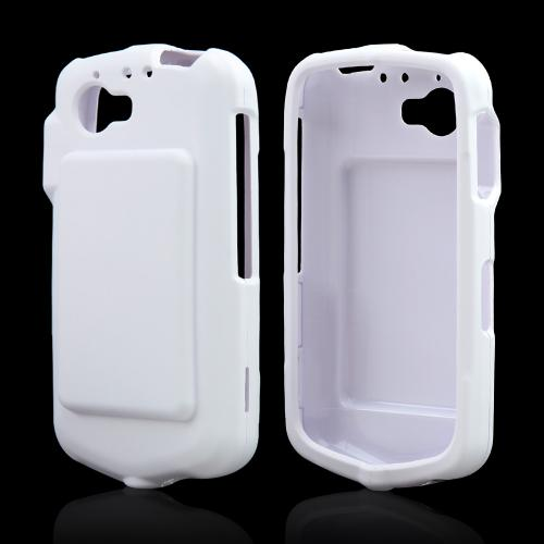 White Rubberized Hard Case for Casio G'zOne Commando 4G LTE C811