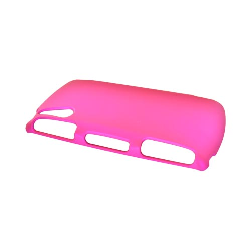 Sony Ericsson Xperia Play Rubberized Hard Case - Hot Pink