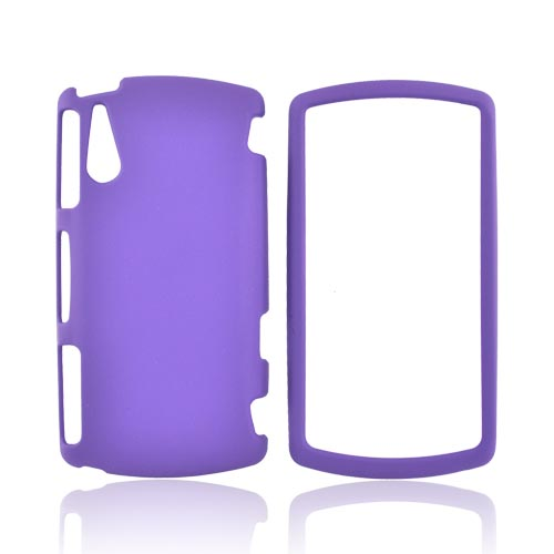 Sony Ericsson Xperia Play Rubberized Hard Case - Purple