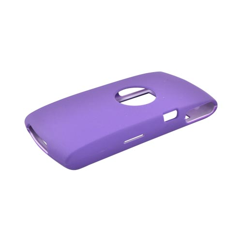 Sony Ericsson Vivaz Rubberized Hard Case - Purple