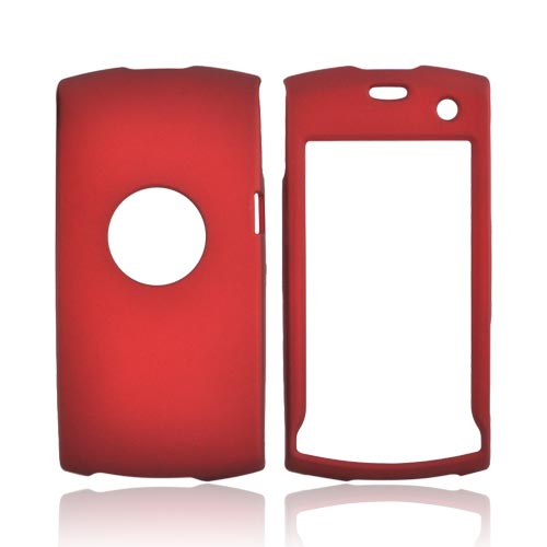 Sony Ericsson Vivaz Rubberized Hard Case - Red