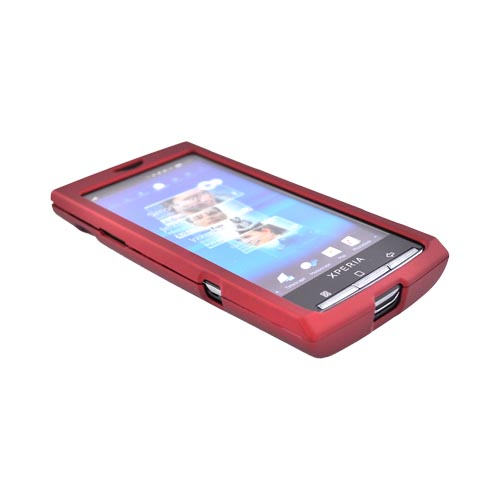 Sony Ericsson Xperia X10 Rubberized Hard Case - Red