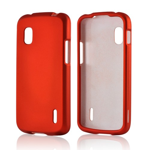 Orange Rubberized Hard Case for LG Nexus 4