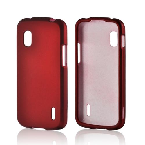 Red Rubberized Hard Case for LG Nexus 4