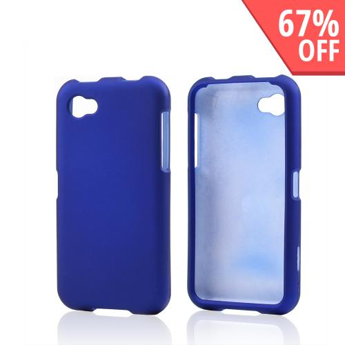 Blue Rubberized Hard Case for HTC First