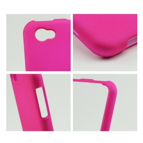Hot Pink Rubberized Hard Case for HTC First