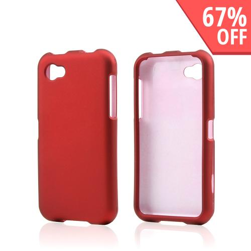 Red Rubberized Hard Case for HTC First