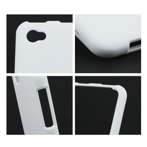 White Rubberized Hard Case for HTC First