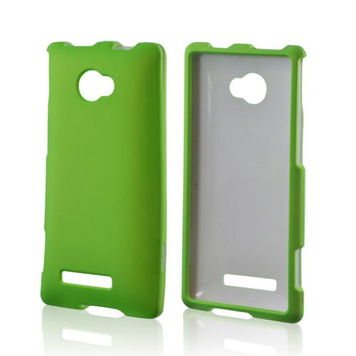 HTC 8X Rubberized Hard Case - Neon Green