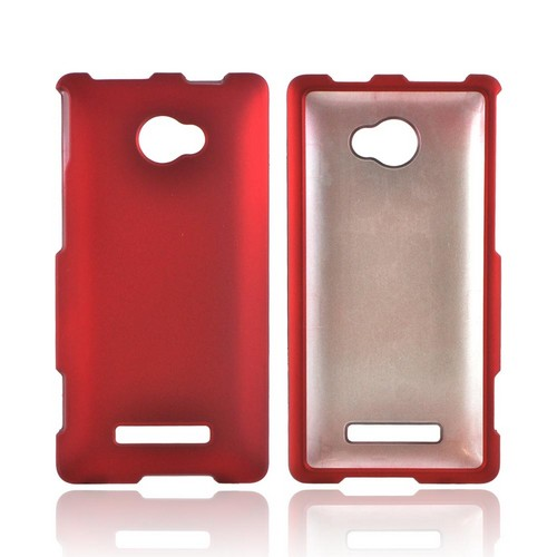 HTC 8X Rubberized Hard Case - Red