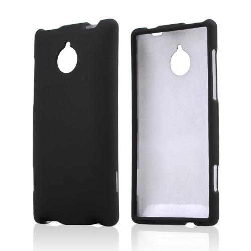 Black Rubberized Hard Case for HTC 8XT