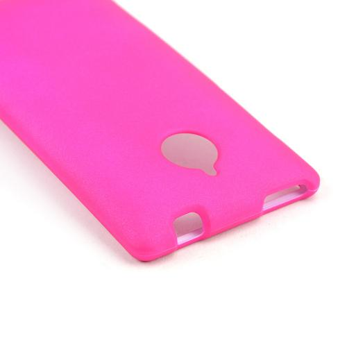 Hot Pink Rubberized Hard Case for HTC 8XT
