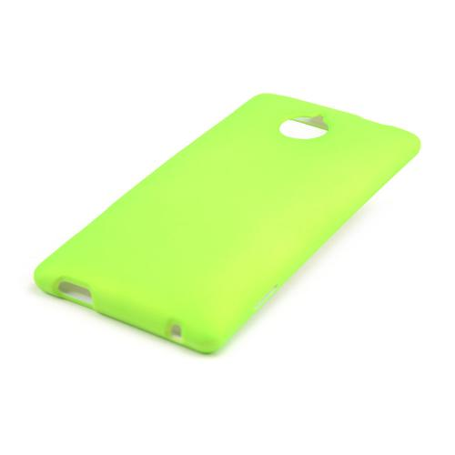 Neon Green Rubberized Hard Case for HTC 8XT