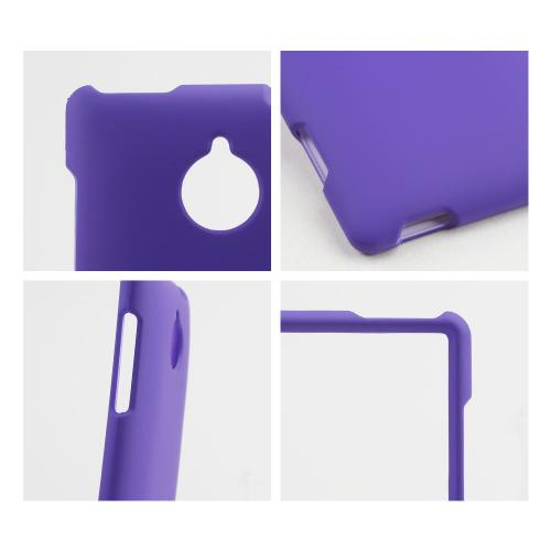 Purple Rubberized Hard Case for HTC 8XT