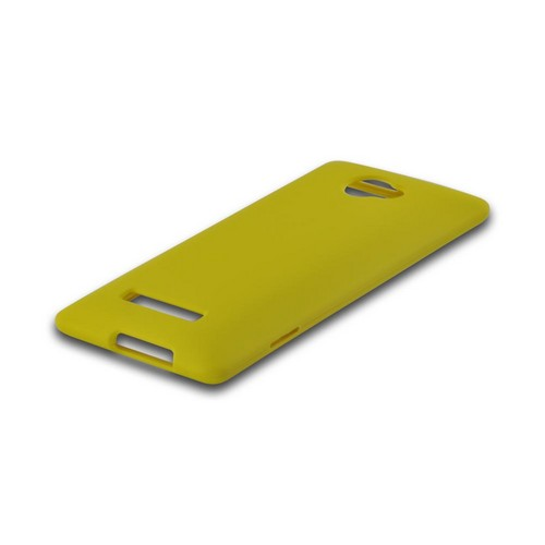 Yellow Rubberized Hard Case for HTC 8X