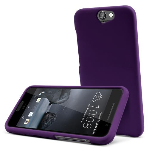 HTC One A9 Case,  [Purple]  Slim & Protective Rubberized Matte Finish Snap-on Hard Polycarbonate Plastic Case Cover