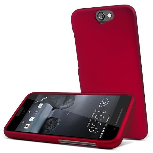 HTC One A9 Case,  [Rose Red]  Slim & Protective Rubberized Matte Finish Snap-on Hard Polycarbonate Plastic Case Cover