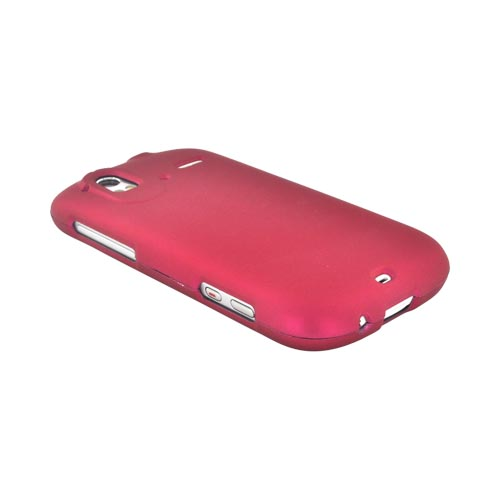 HTC Amaze 4G Rubberized Hard Case - Rose Pink