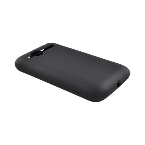 HTC Bee/Wildfire Rubberized Hard Case - Black