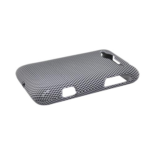 HTC Bee/Wildfire Rubberized Hard Case - Carbon Fiber