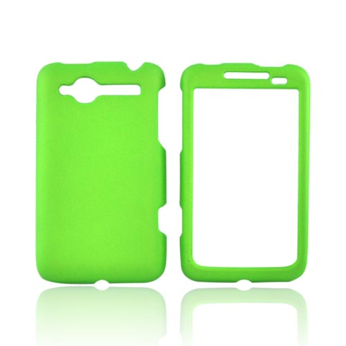 HTC Bee/Wildfire Rubberized Hard Case - Neon Green