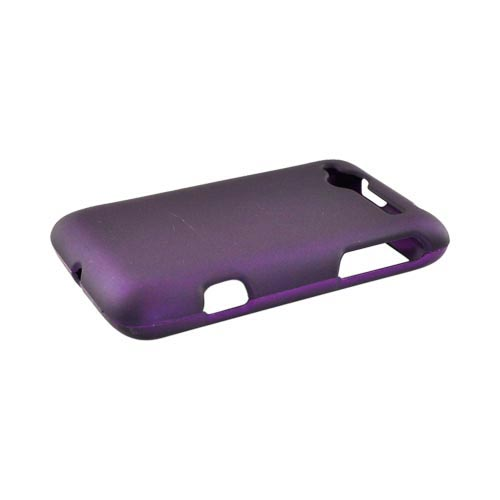 HTC Bee/Wildfire Rubberized Hard Case - Purple