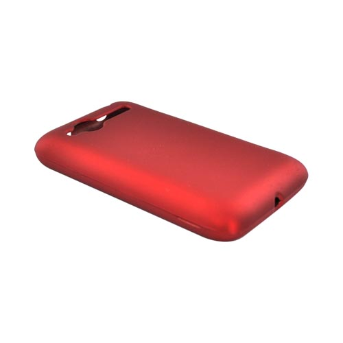 HTC Bee/Wildfire Rubberized Hard Case - Red