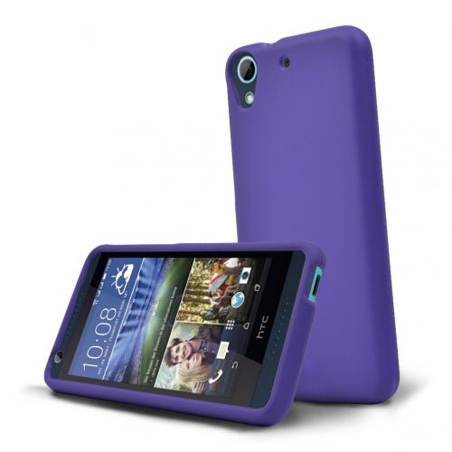 HTC Desire 626 Case, [Purple] Slim & Protective Rubberized Matte Hard Plastic Case