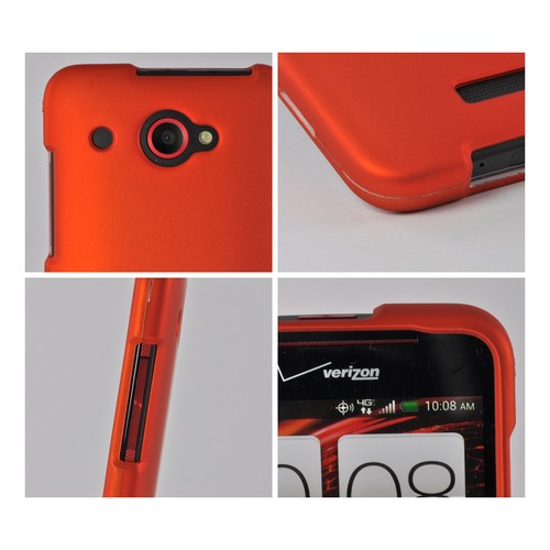 Orange Rubberized Hard Case for HTC Droid DNA