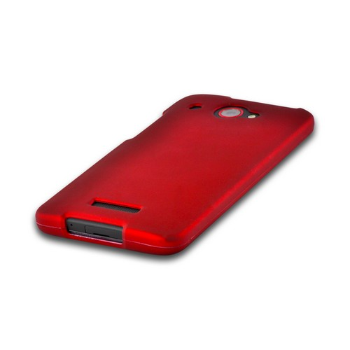 Red Rubberized Hard Case for HTC Droid DNA
