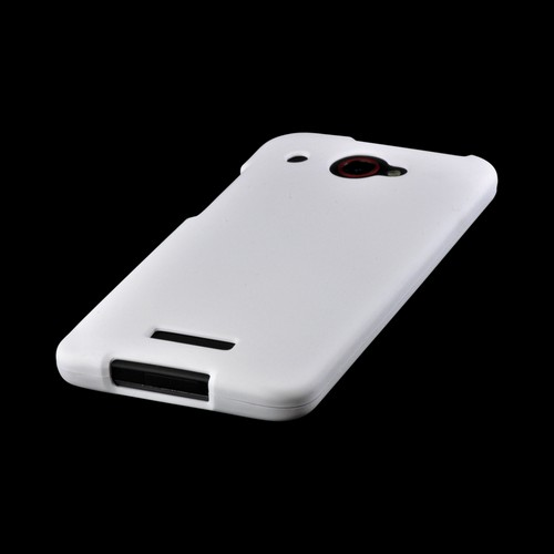 White Rubberized Hard Case for HTC Droid DNA