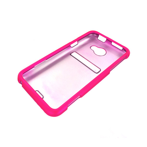 HTC EVO 4G LTE Rubberized Hard Case - Hot Pink