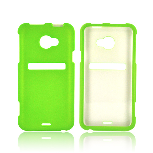 HTC EVO 4G LTE Rubberized Hard Case - Neon Green