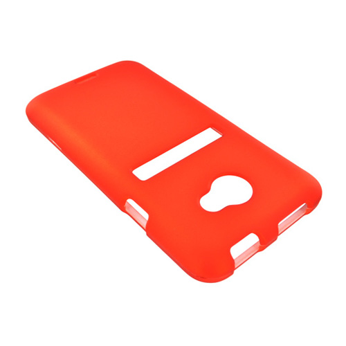 HTC EVO 4G LTE Rubberized Hard Case - Orange