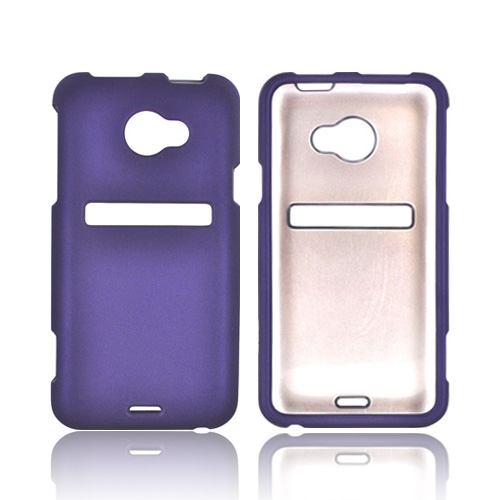 HTC EVO 4G LTE Rubberized Hard Case - Purple