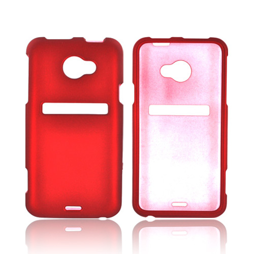 HTC EVO 4G LTE Rubberized Hard Case - Red