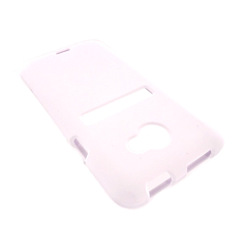 HTC EVO 4G LTE Rubberized Hard Case - White