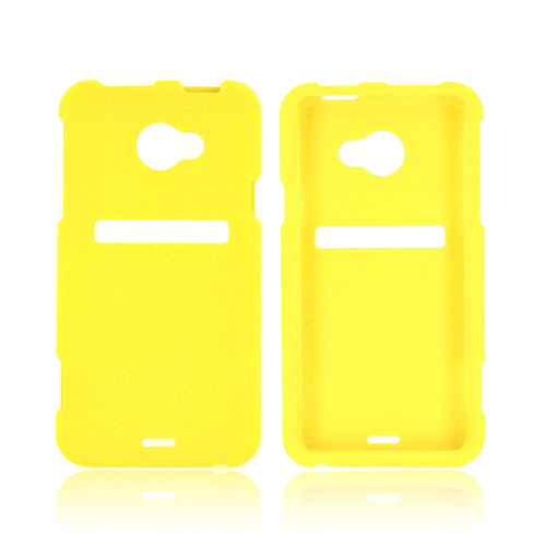HTC EVO 4G LTE Rubberized Hard Case - Yellow