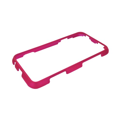 HTC EVO 3D Rubberized Hard Case - Hot Pink