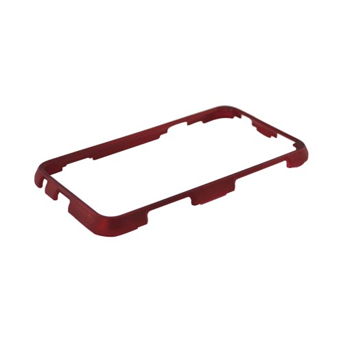 HTC EVO 3D Rubberized Hard Case - Red