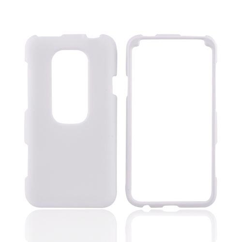 HTC EVO 3D Rubberized Hard Case - White